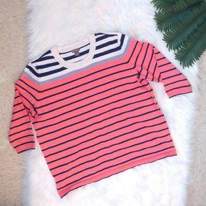 Eddie Bauer Striped Crewneck Sweater Size 2XL